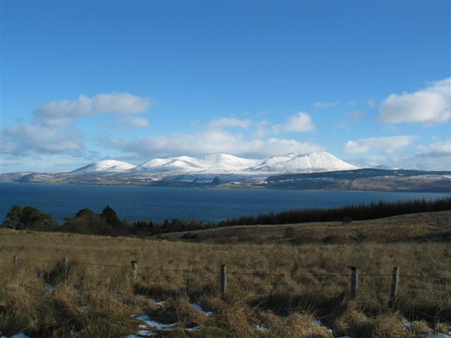 Moorland and Arran from the B842