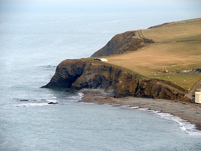 Headland to the north of Clarach Bay