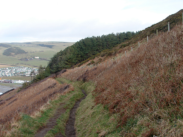 Descending towards Clarach Bay on the Ceredigion Coastal Path