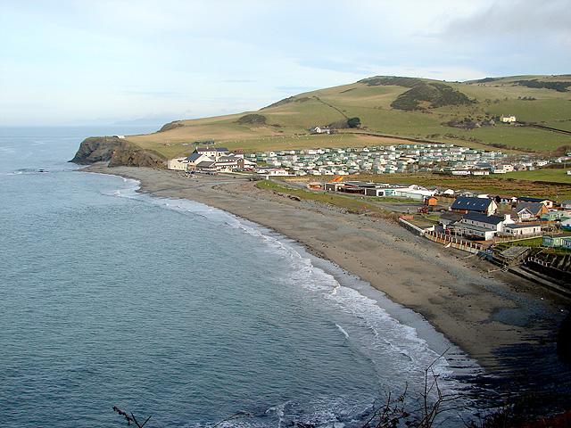 Clarach Bay holiday site