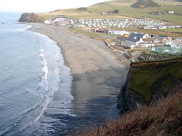 The beach at Clarach Bay