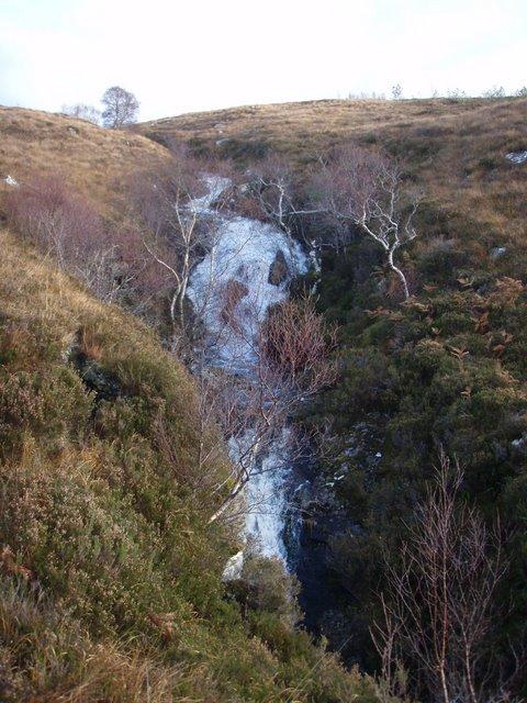 Falls on the Allt Loch nan Uain