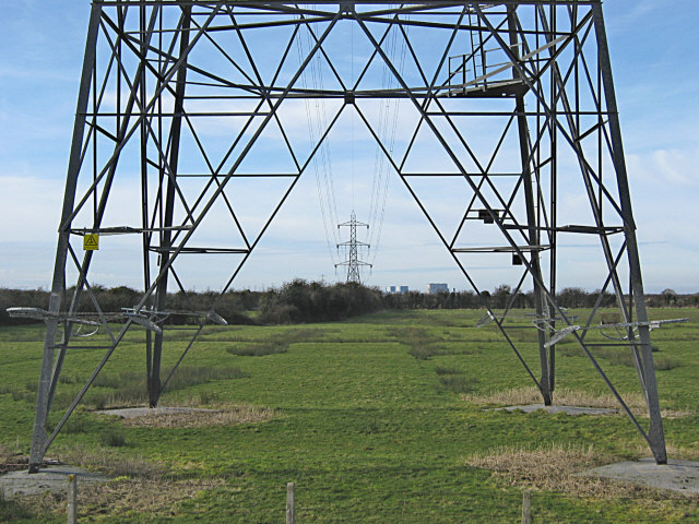 Power lines near Hinckley Point power station