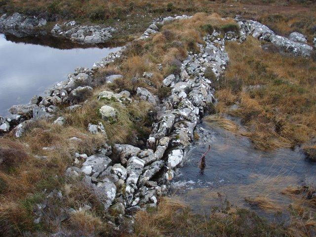 Dam on Loch nan Uain