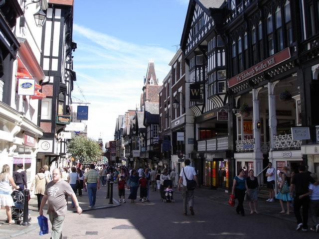 Chester - Eastgate Street - view to the east