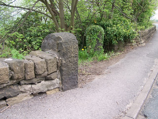 Gateposts on Worrall Road, near Worrall, Sheffield