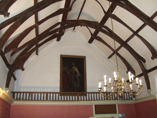 Ceiling of the Great Hall, the Old Deanery, Exeter