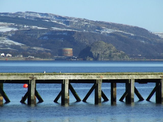 Lamont's Pier and Dumbarton Rock