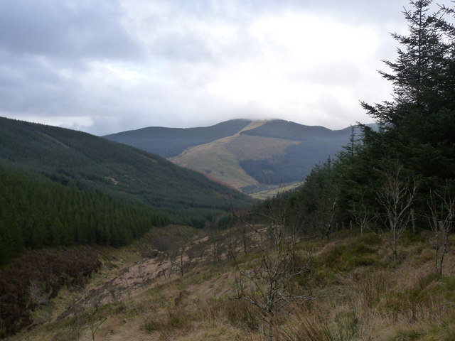 View down Valley towards Corris Uchaf