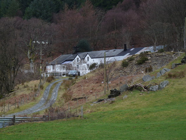 Farmhouse above Corris Uchaf