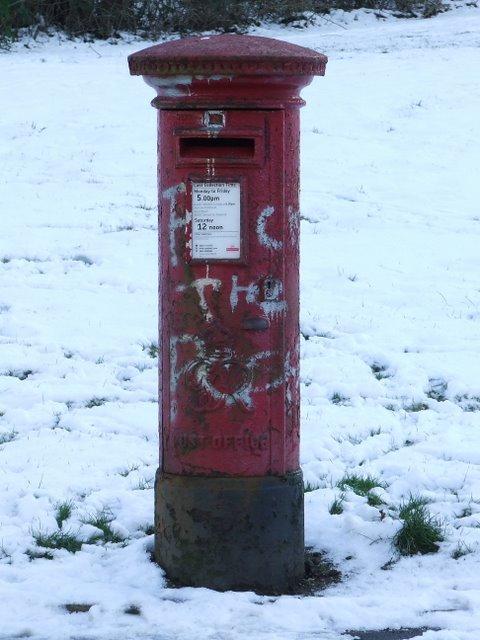 Vandalised pillar box