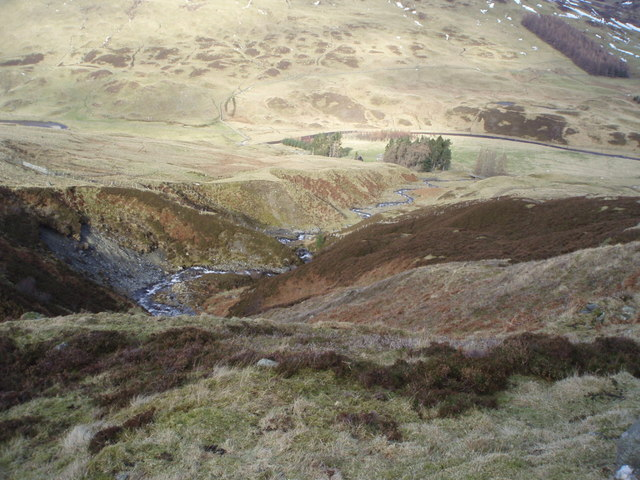 Looking into Glen Almond from Crom Chreag