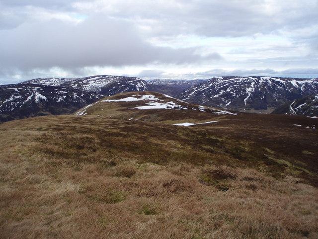 View from  A Chairidh along NE ridge
