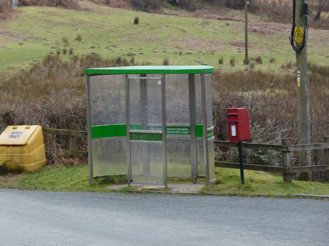 Bus stop and Postbox, Ceinws Esgairgeiliog