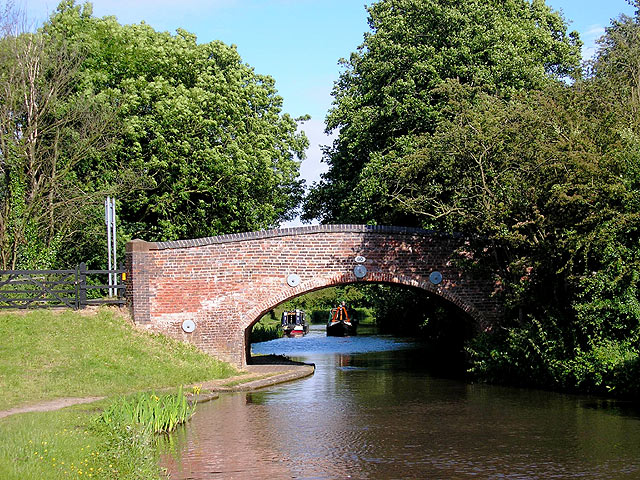 The Coventry Canal at Fradley Bridge, Staffordshire