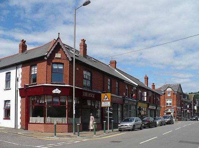 The Rock Christian café and bookshop, Church Street, Bedwas
