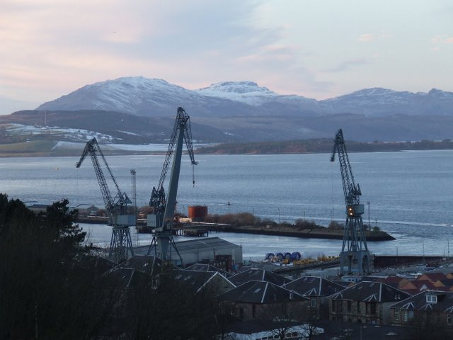 Inchgreen dry dock and the Great Harbour
