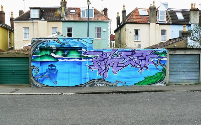 Street art, Kent Road, Bishopston, Bristol