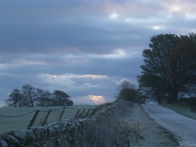 Road leading to Berrier Early November 2008