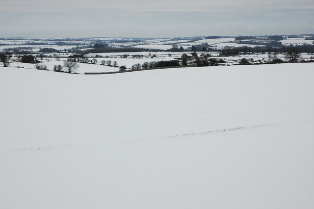 Winter Cotswold landscape