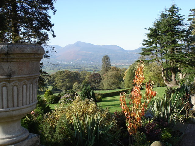 Underscar Manor Hotel - gardens and view to the south-west