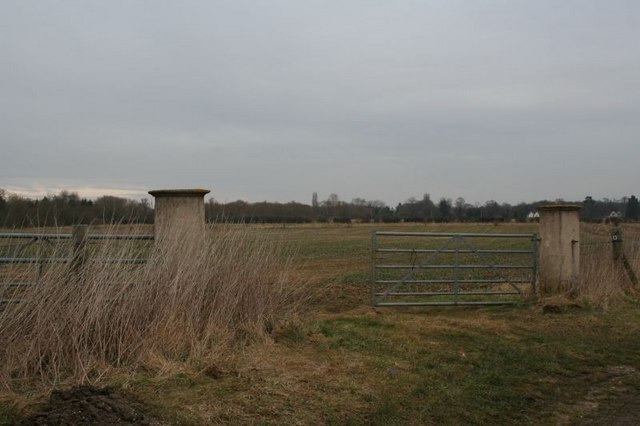 Concrete gate posts