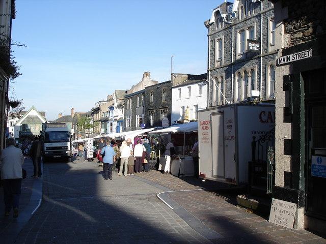 Keswick - market by the Moot Hall