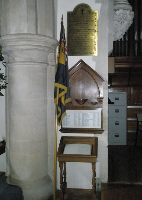 The Roll of Honour at St Mary the Virgin, Datchet