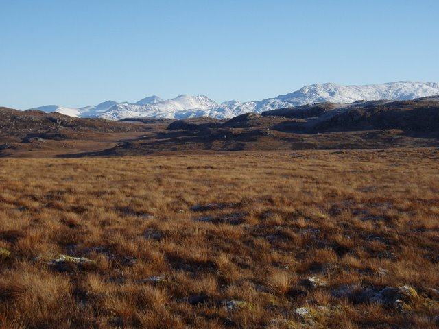 Moorland below Meall Sùil a' Chròtha