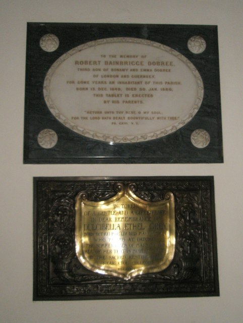 Memorial on the south wall at St Mary the Virgin, Datchet
