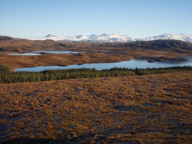 Moorland view towards Loch a' Bhaid-luachraich