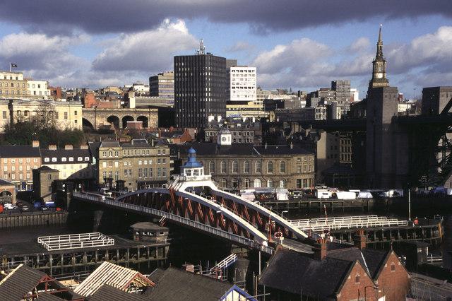 The swing bridge Newcastle upon Tyne