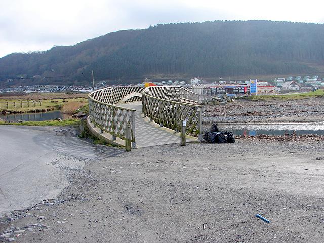 Footbridge over Afon Clarach