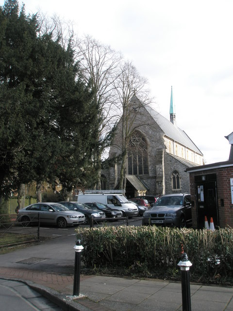 View of Holy Trinity, Winchester from Upper Brook Street