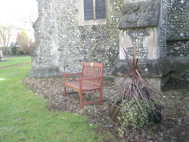 Seat in the churchyard at Holy Trinity, Winchester