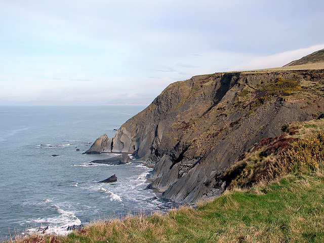 Headland near Ty-mawr farm