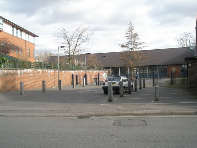 Entrance to St Bede Primary School in Gordon Road
