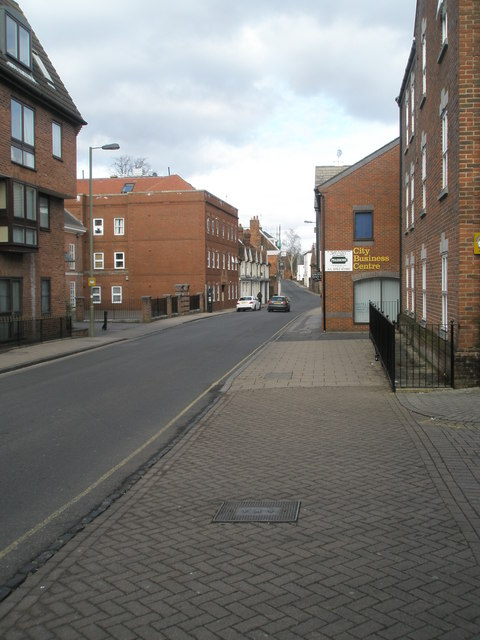 Looking northwards up Hyde Street