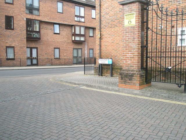 Junction of Marston Gate and Hyde Street