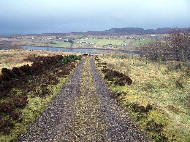 Edinbane forest track