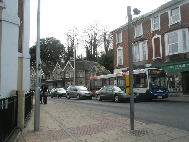 Bus in City Street