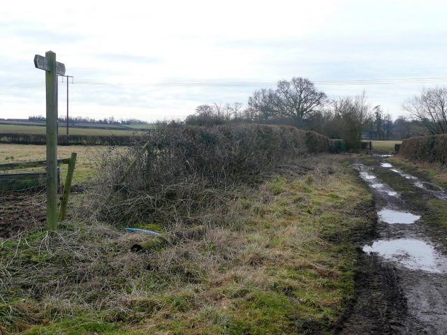 Footpath south from Brownheath Road