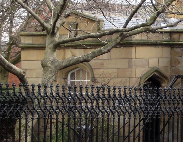 Queen Elizabeth Grammar School railing detail