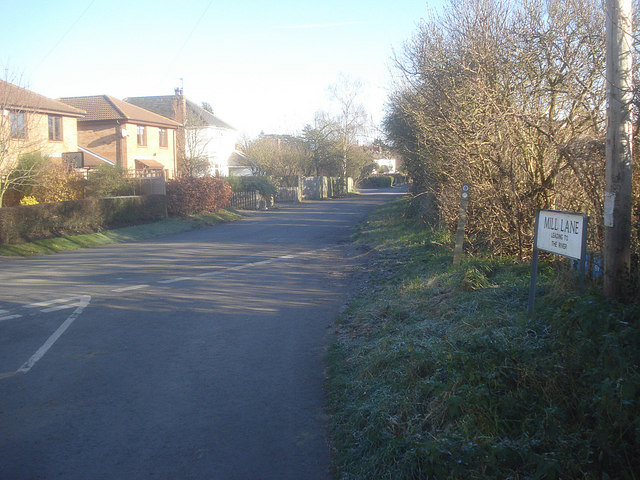 Entrance to Mill Lane