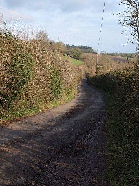 Lane near Milton Hill