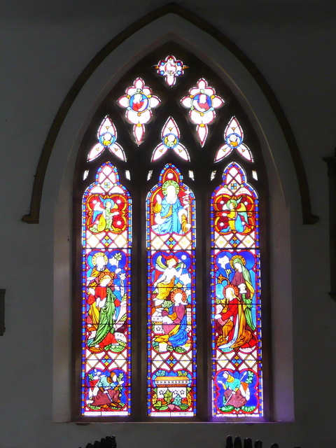 St. Cyriac's church, Lacock - window