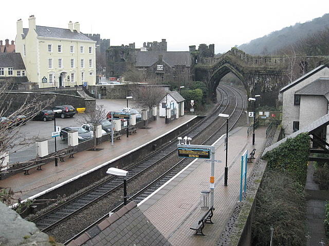 Conwy Station from Rosemary Lane