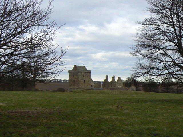 Partially restored ruin