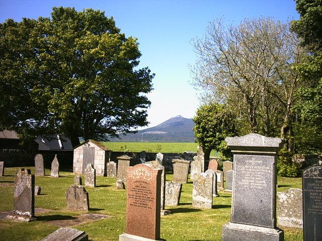 View from Chapel of Garioch churchyard