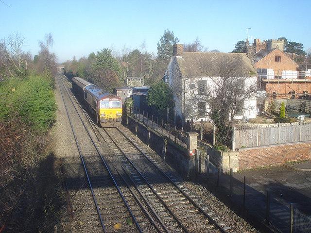 Freight train at Eckington